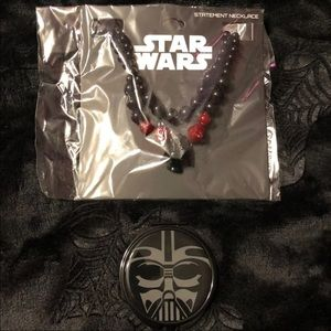 Star Wars Darth Vader necklace and compact mirror